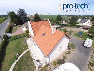 Chantier de rénovation de toiture en Indre et Loire